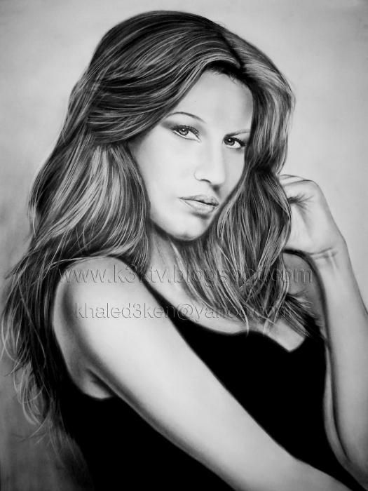 Hd Wallpaper Of Beautiful Indian Girl Portrait Of Gisele B 252 Ndchen By Khaled3ken On Stars Portraits